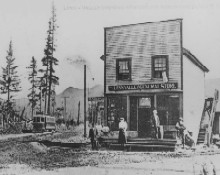 Lynn Valley General Store With Street Car In Background